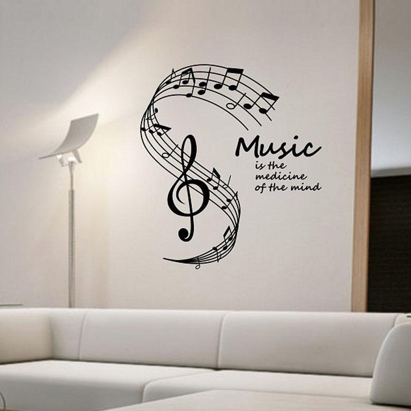 Wandtattoo Noten Musik Ist Die Medizin Des Geistes Wandaufkleber Wohnzimmer Wandtattoos Wandtattoos Wandtattoo Musik Wandtattoo
