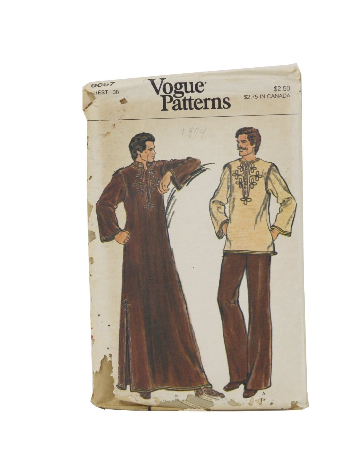 1970\'s Vogue Pattern no. 9067 Mens Sewing pattern