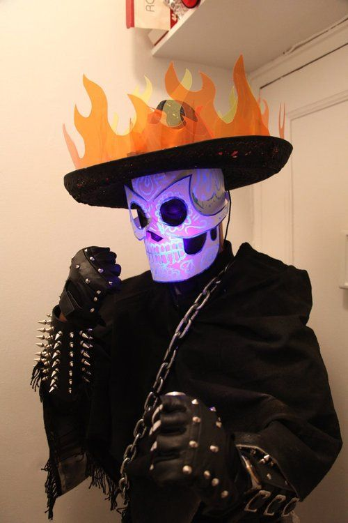 Day of the Dead Ghost Rider costume.