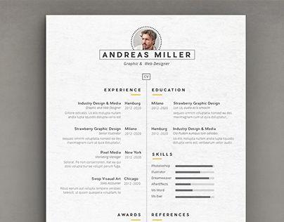 Cv resume Template Resume Pinterest Cv resume template - resume template