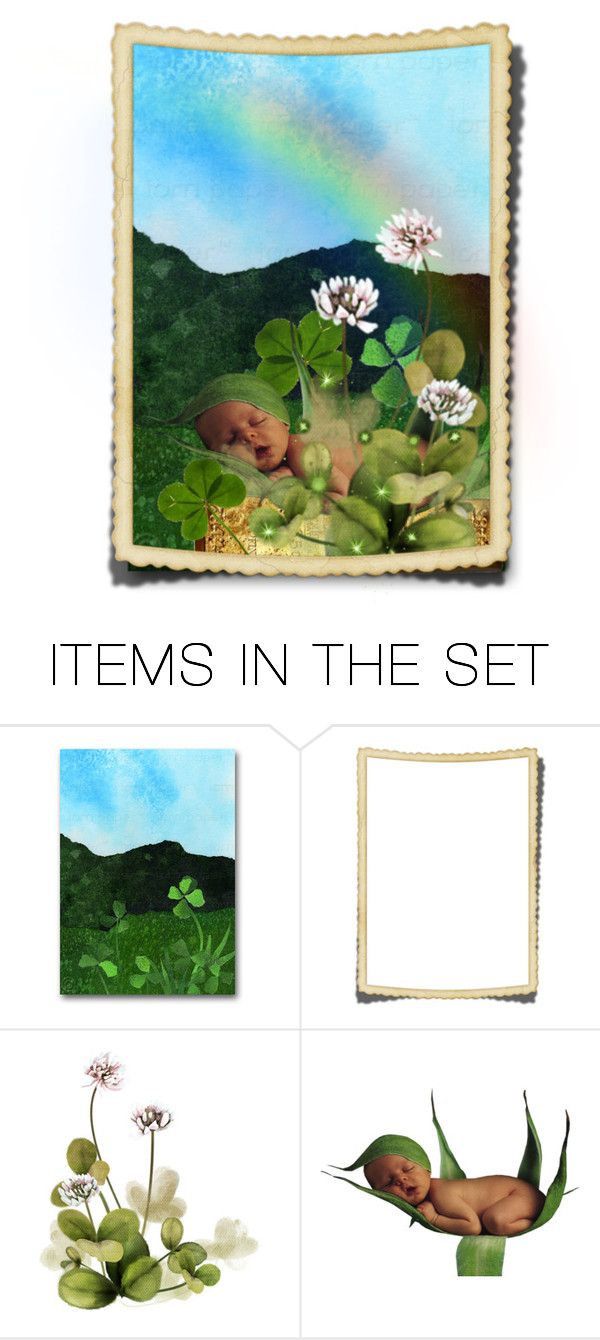 """A Leprechaun is Born"" by fairieprincessgoddess ❤ liked on Polyvore featuring art"