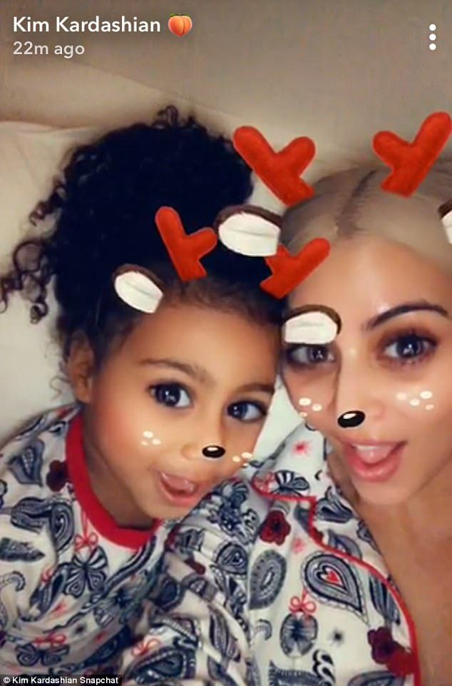 Kim Kardashian and North West sing Rudolph on Snapchat | Keeping up ...