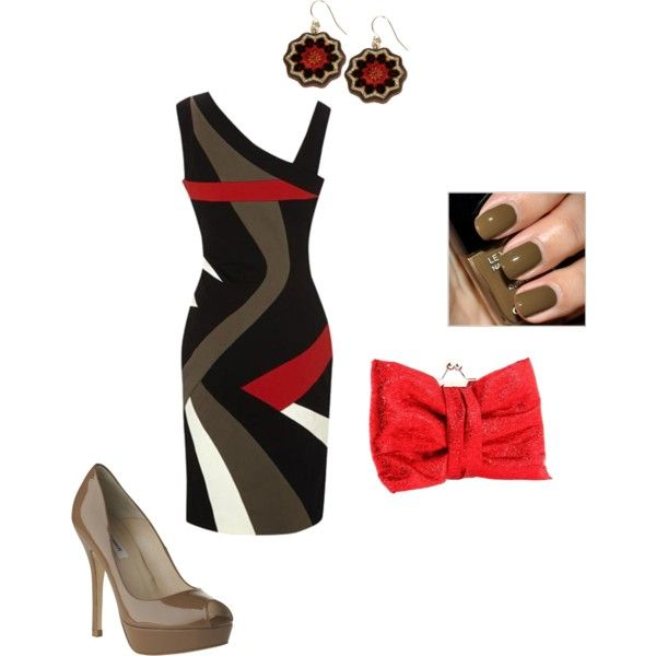 color block dress, created by moprandy on Polyvore