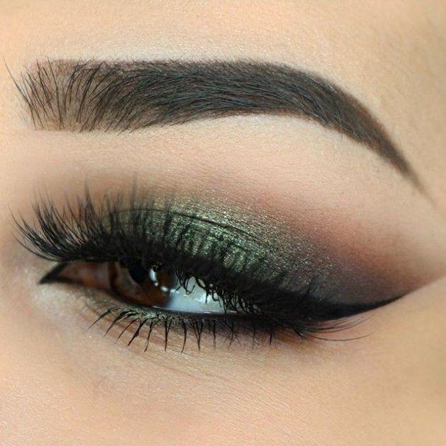 Grüne Smokey-Augen-Ideen 2019 - Frisuren Frauen   Augen