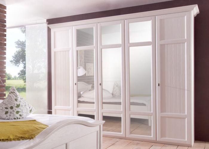 Kleiderschrank Rome aus unserer romantischen Landhausmöbelserie - Schlafzimmer Landhausstil Weiß