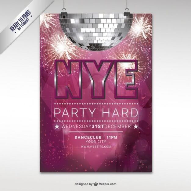 new year eve party flyer template New Year Pinterest - new year poster template