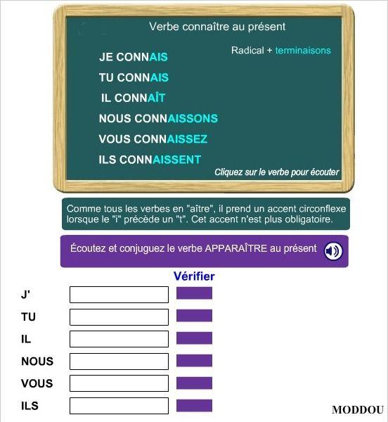 Present Du Verbe Connaitre Verbe Faire Verbe Upe2a
