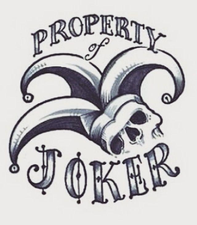 property of joker tattoos pinterest joker tattoo and tatting. Black Bedroom Furniture Sets. Home Design Ideas