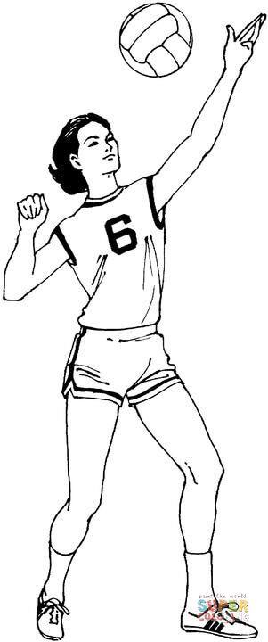 Resultado de imagem para desenhos tumblr voleibol para colorir ...