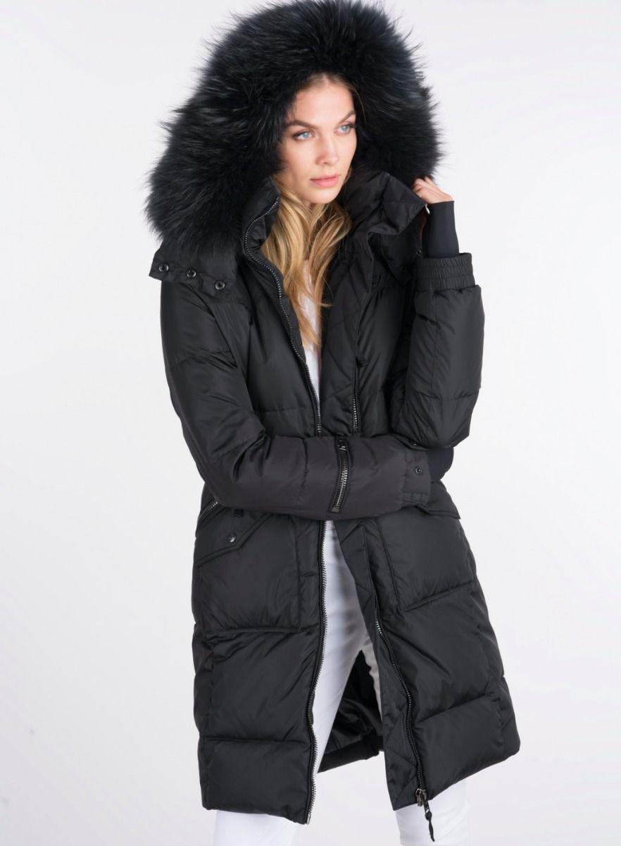 Sam New York Fur Highway Coat Long Down Coat Coat Coats For Women [ 1200 x 882 Pixel ]
