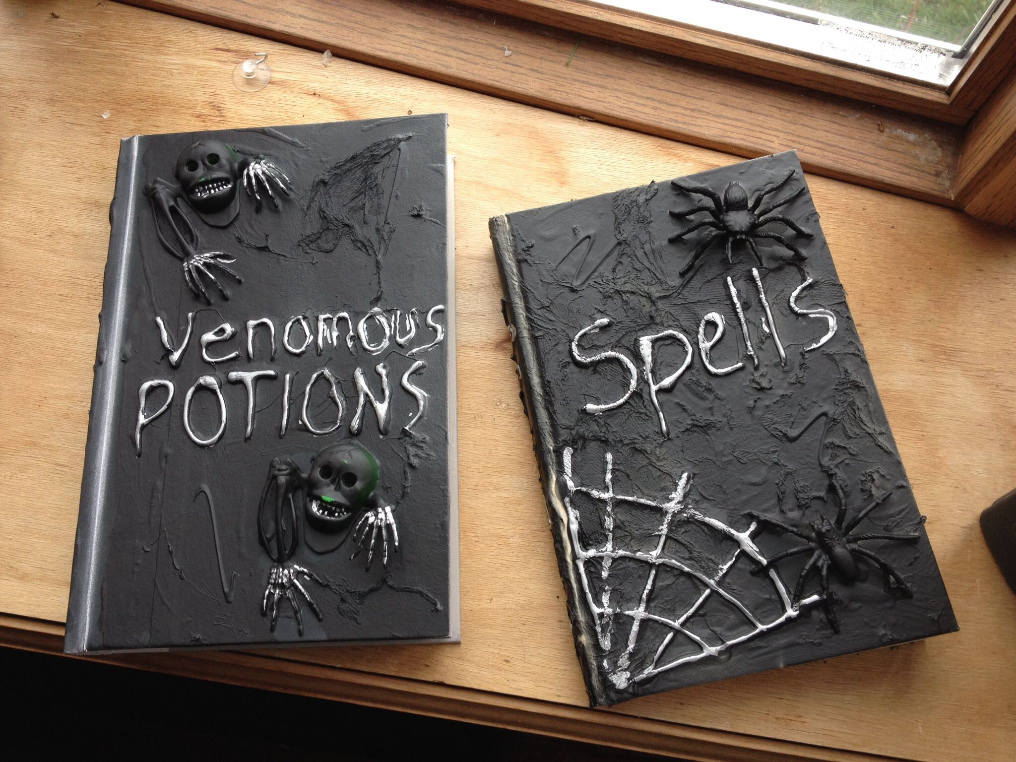 Finished spell books