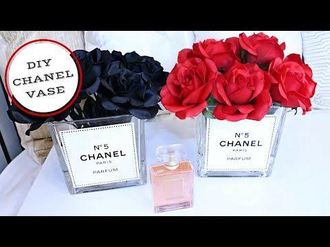 4dc76cbacf3c DIY Chanel Inspired Vase: Tumblr Inspired - YouTube | diy in 2019 ...