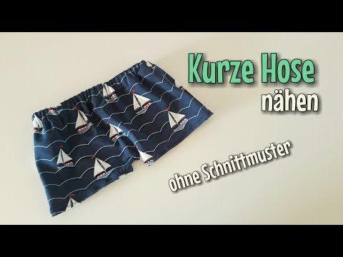 Kurze Hose - Nähanleitung - OHNE Schnittmuster - Anfänger ...
