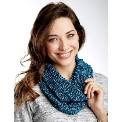 Drapey Cowl Knit In Patons Metallic Free Pattern At Yarnspirations