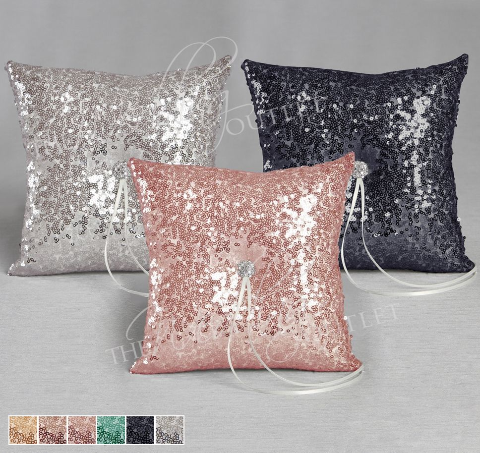 Elsa Shiny Sequin Ring Pillow will sparkle and shine as the little ...