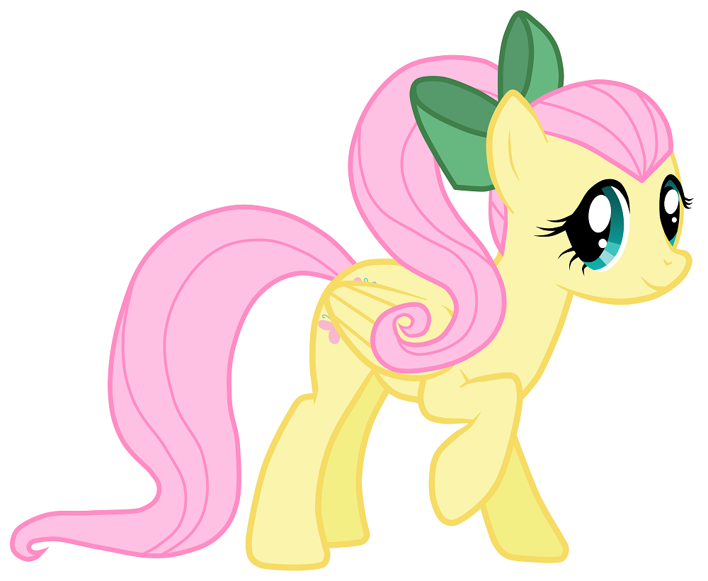 fluttershy ponytail my little ponies friendship is