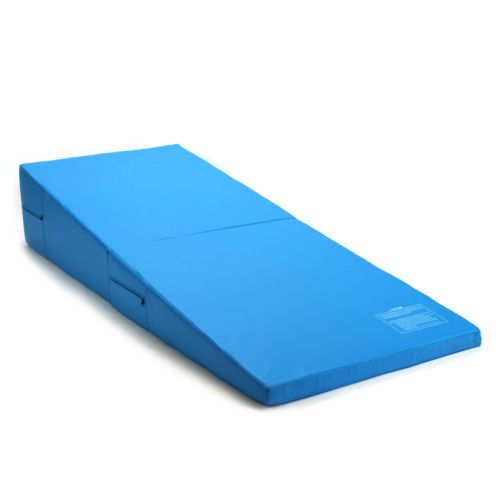 Blue Incline Wedge Ramp Gymnastics Gym Folding Exercise Aerobics Tumbling Mat Premiumselectoutlet Gymnastics Equipment For Home Pulled Chicken Gymnastics