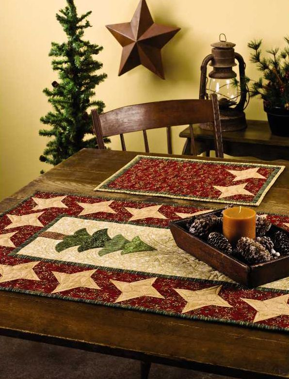 Star Bright Table Set. I have an old Quilter's World (Dec 08 ... : quilting for christmas magazine - Adamdwight.com