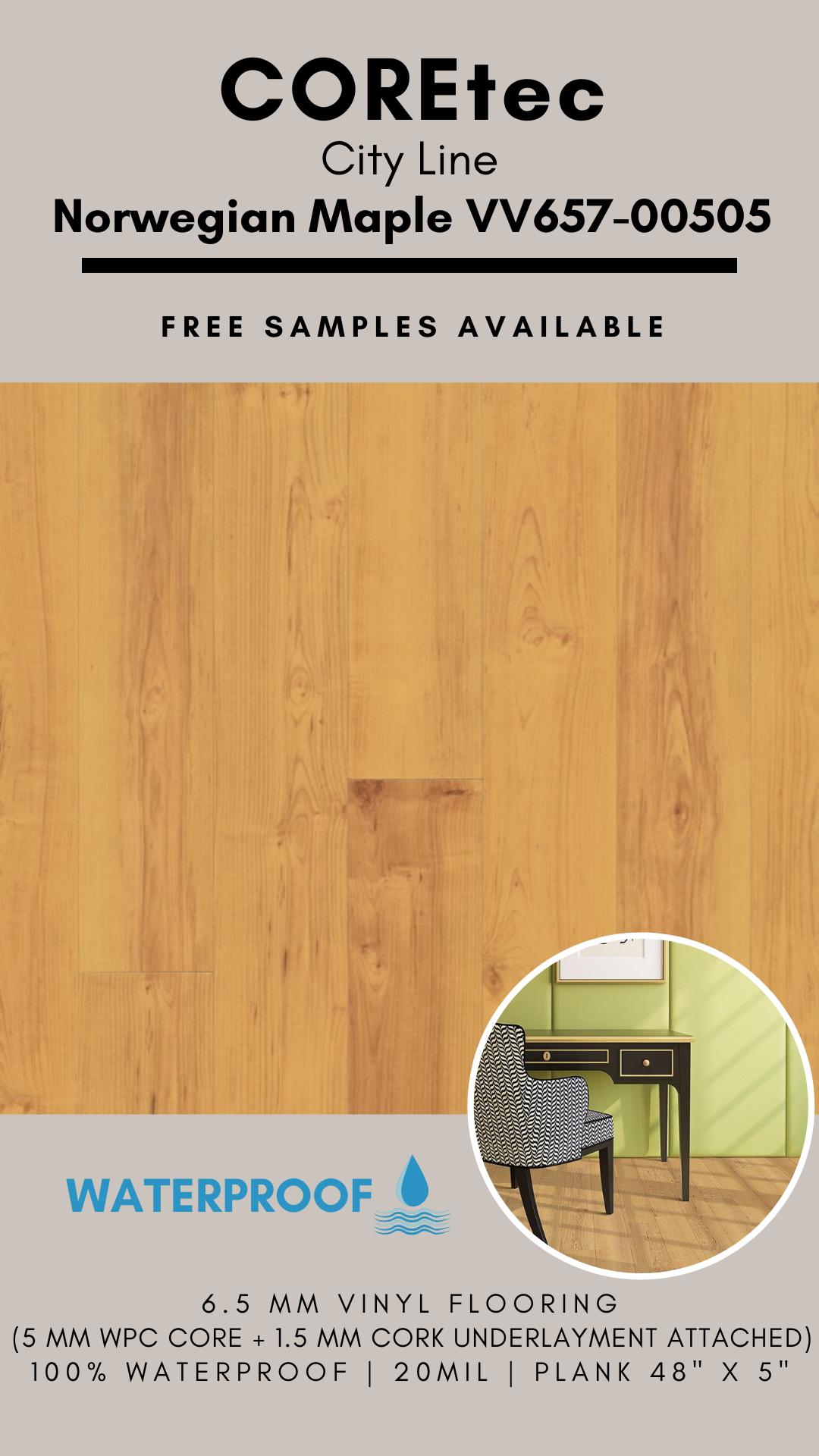 Coretec Plus 5 Wpc City Line Plank Norwegian Maple Vv657 00505 Vinyl Flooring Special Buy In 2020 Vinyl Flooring Coretec Plus Flooring Flooring