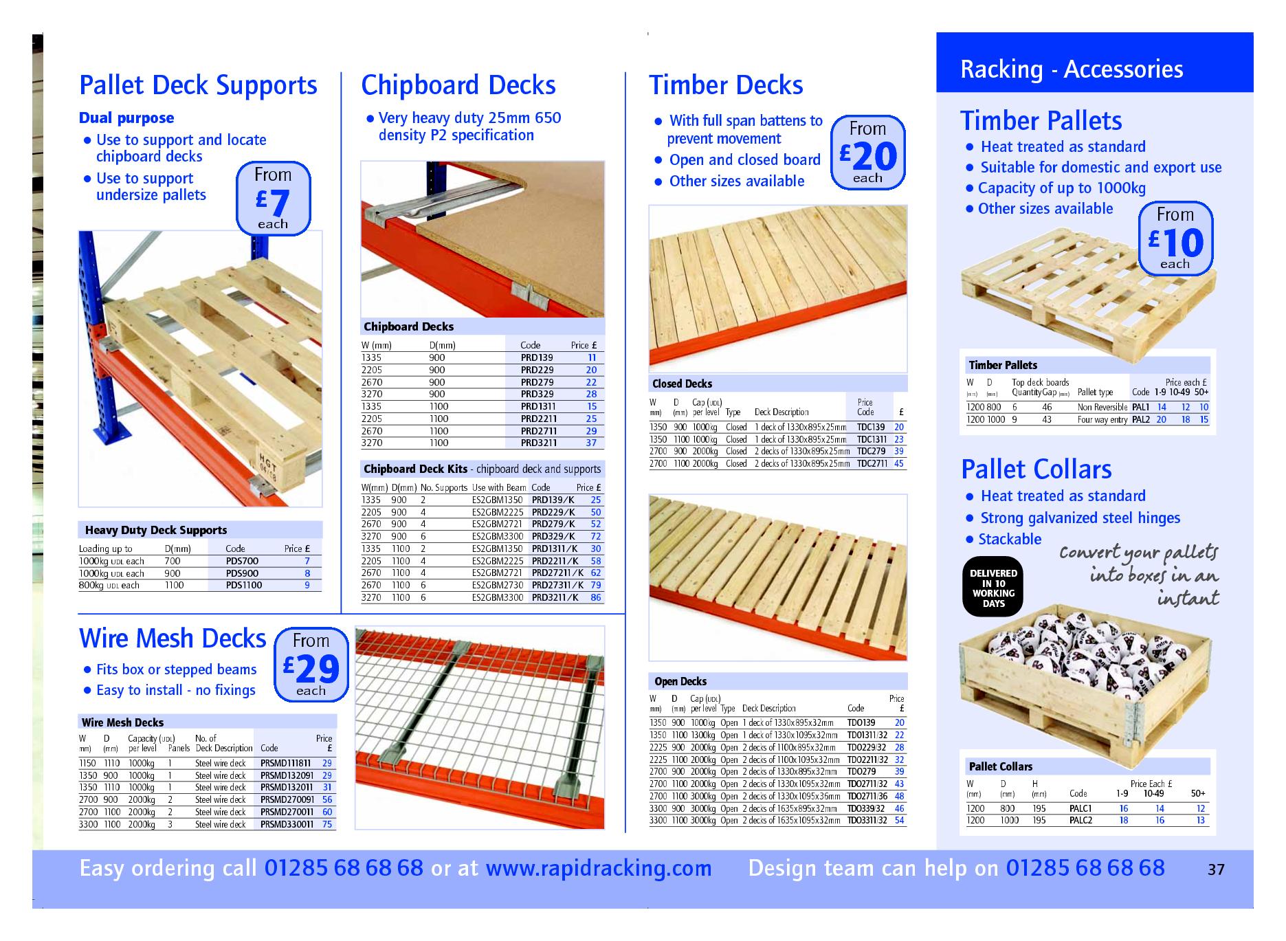 Pallet Deck Supports Chipboard Decks Wire Mesh Decks Timber Decks Deck Supports Timber Deck Pallet Decking