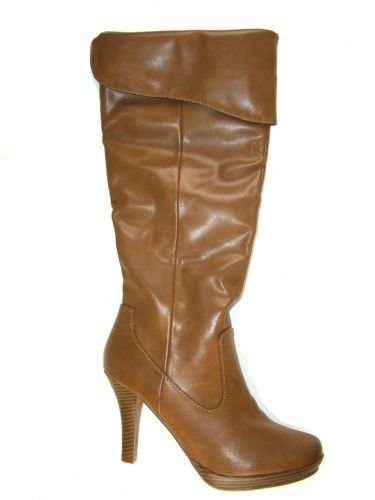 RAMPAGE BRADSHAW Women's Shoes Camel Knee-High Boots US Size 8