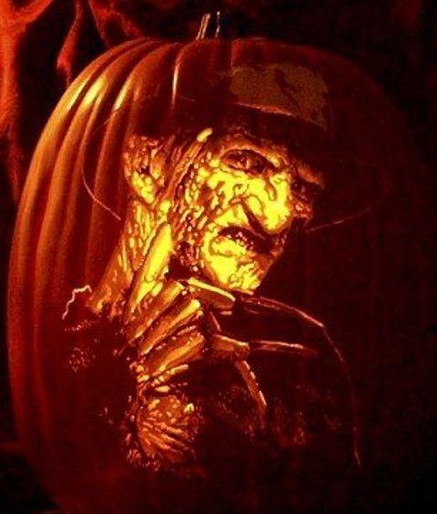 Freddy Krueger Pumpkin Carving Pumpkin Art Halloween Pumpkins Pumpkin Carving