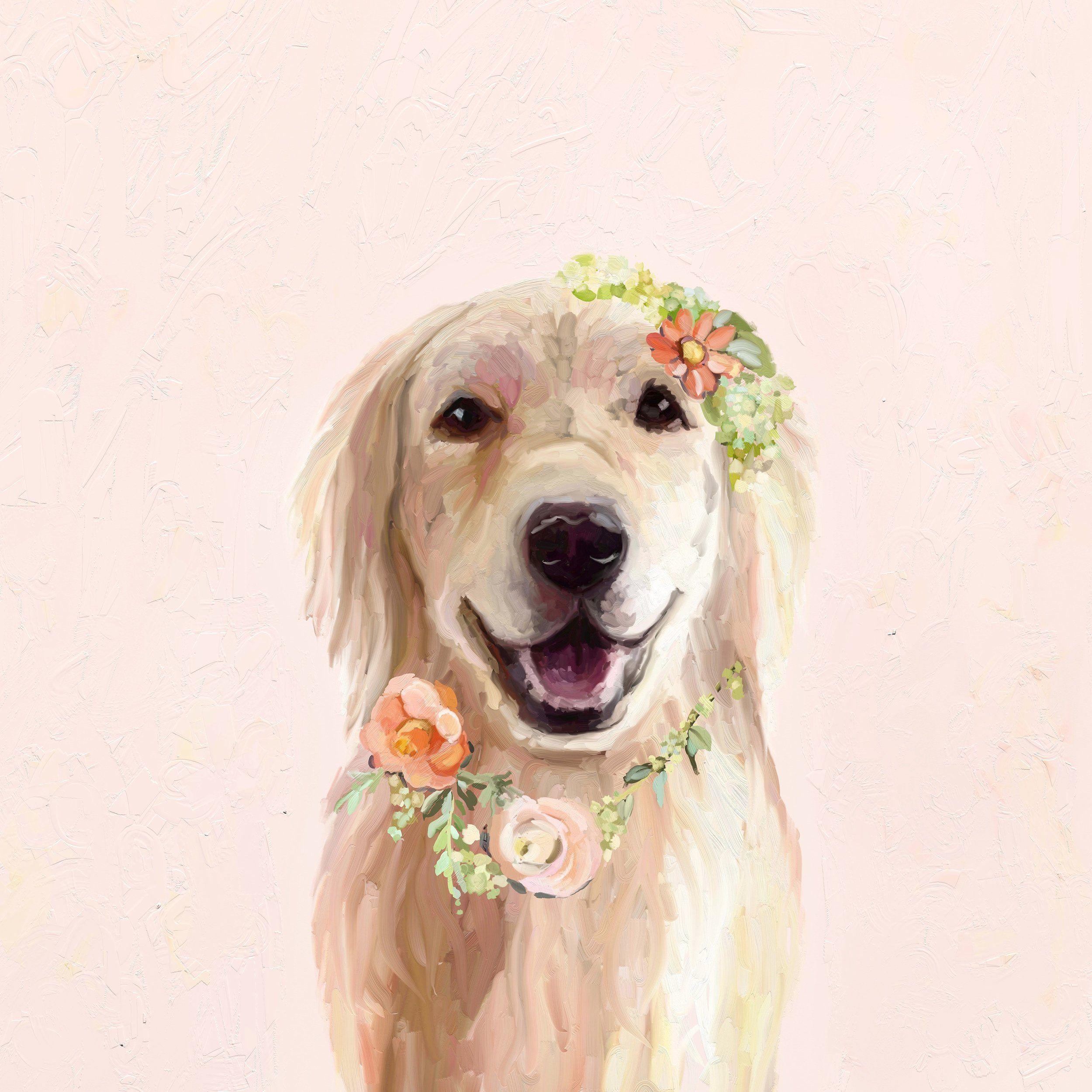 New Work Golden Retriever Art Dog Art Golden Retriever