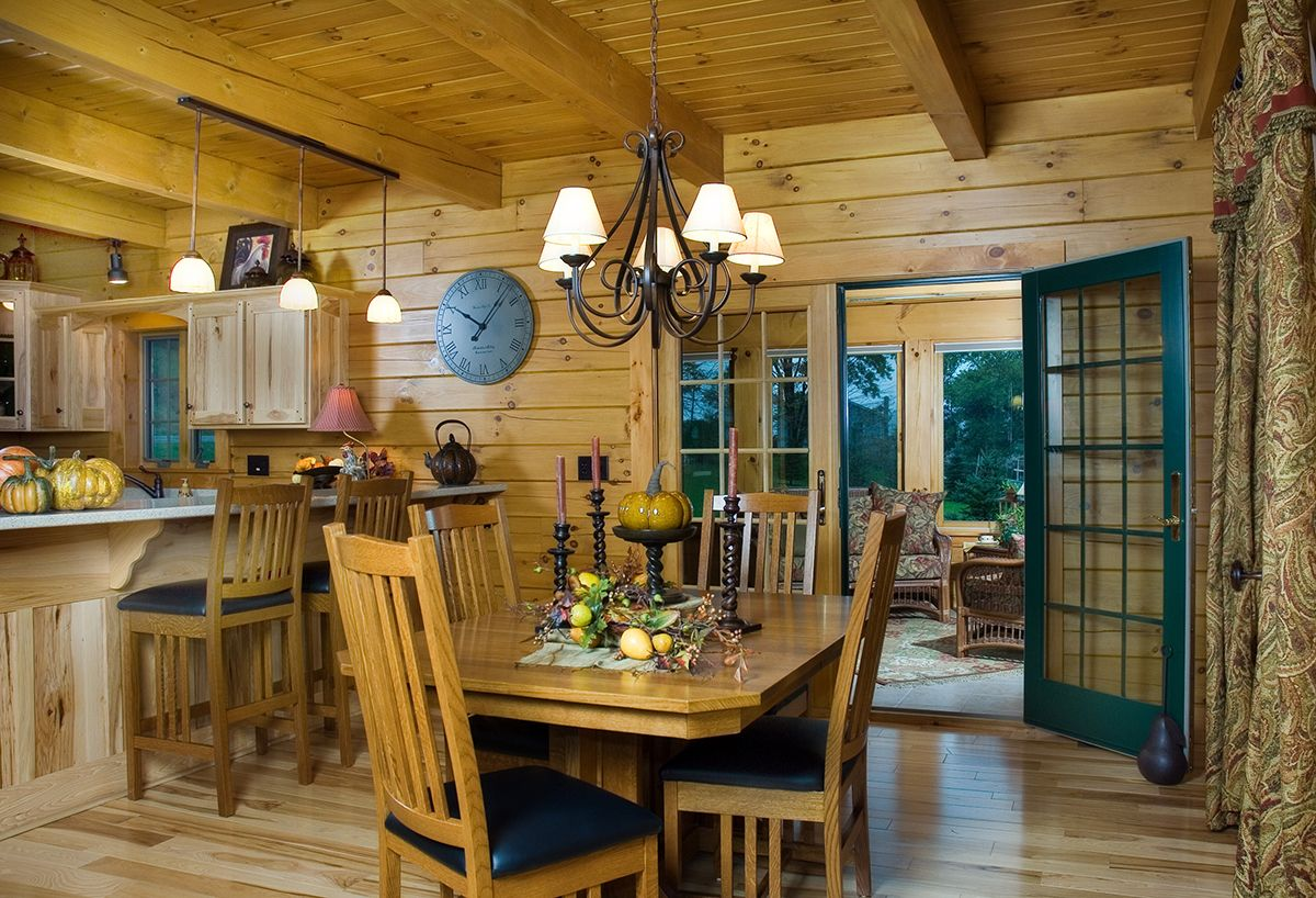 Log home interior ideas dinette area in a hochstetler log home  log home dining  pinterest