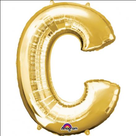Folienballon Buchstabe C Gold 40 Cm Buchstabe C Ballons Fullen Buchstaben