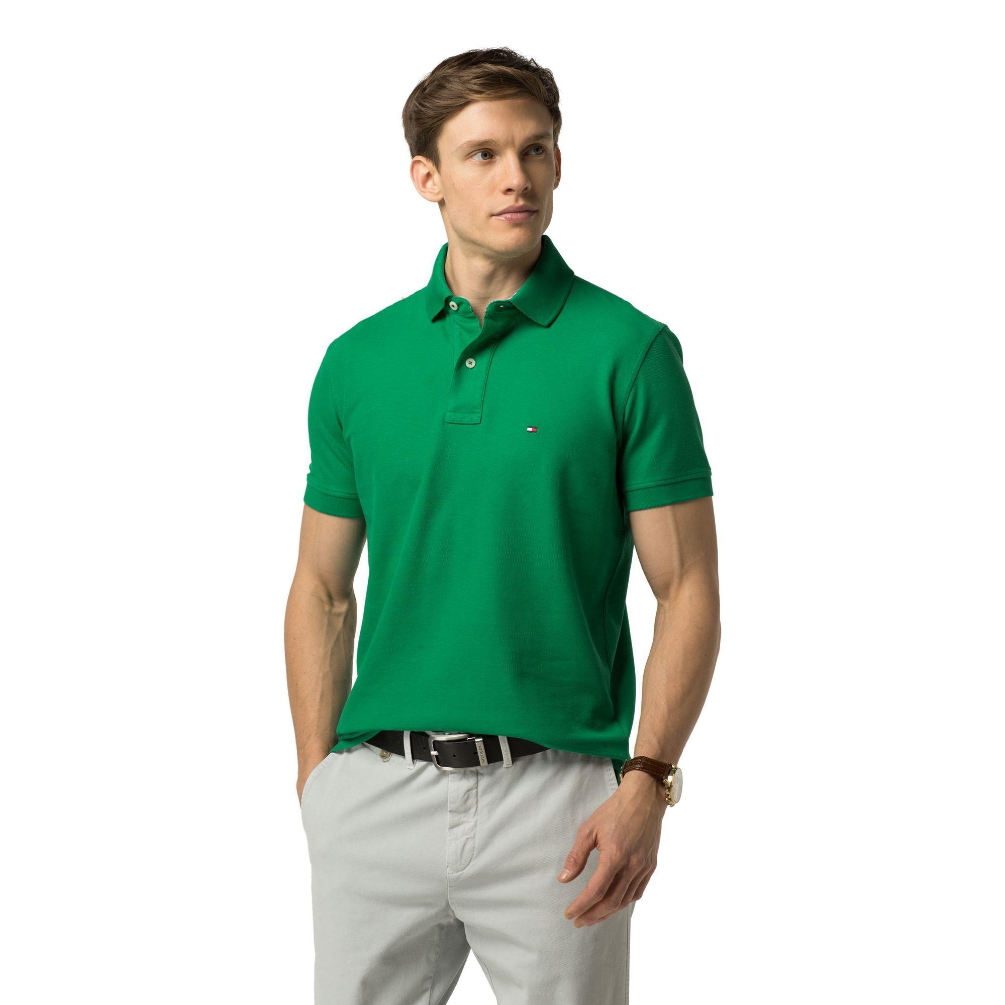 0f5f14d7782d TOMMY HILFIGER Regular Fit Premium Pique Polo - Golf Green.  tommyhilfiger   cloth  all