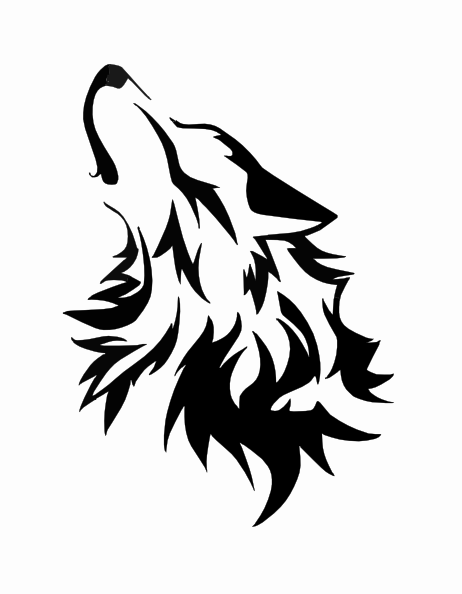 Wolf Howling At The Moon Coloring Pages Commision Howling Wolf By Wolfsouled Clip Art Wolf Stencil Wolf Tattoos Tribal Wolf Tattoo