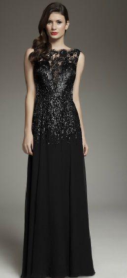 Vestido longo preto para festa