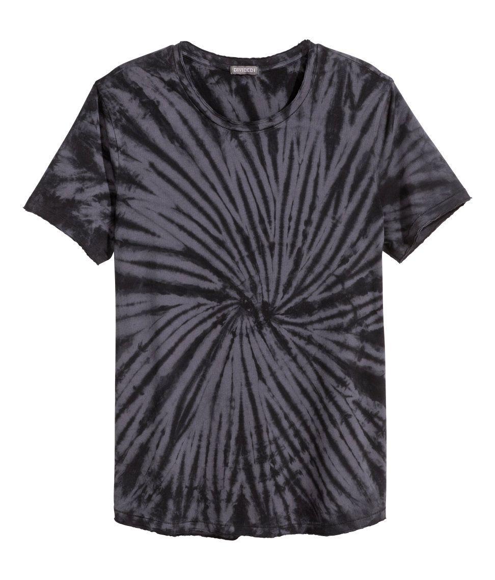 Distressed Look T Shirt H M Divided Guys Shop Mens Clothing Long Sleeve Shirts Mens Tshirts