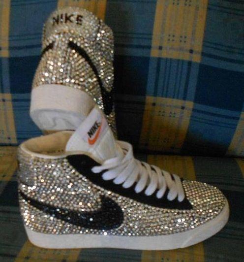 nike tennis shoes with rhinestones