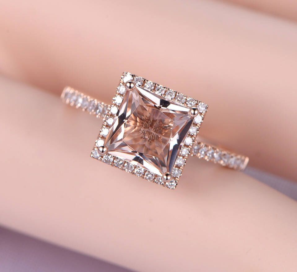 Limited Time Sale Antique 1.25 carat Morganite and Diamond ...