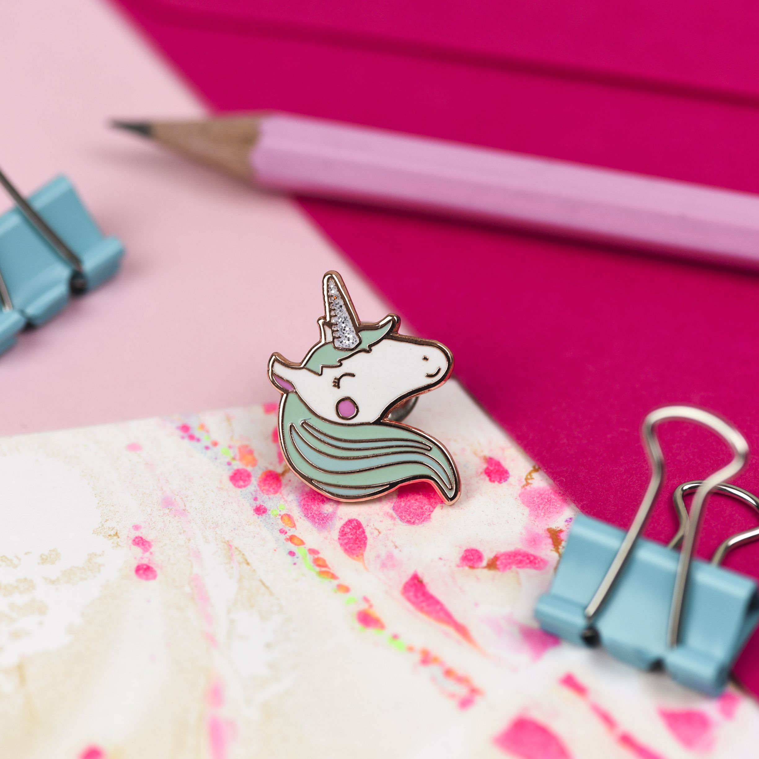 Unicorns rock. Enamel pins rock. What's not to love?