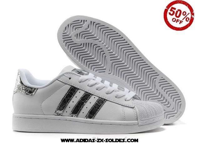 Hommes Adidas Chaussures Superstar II PublicitéS Blanc De