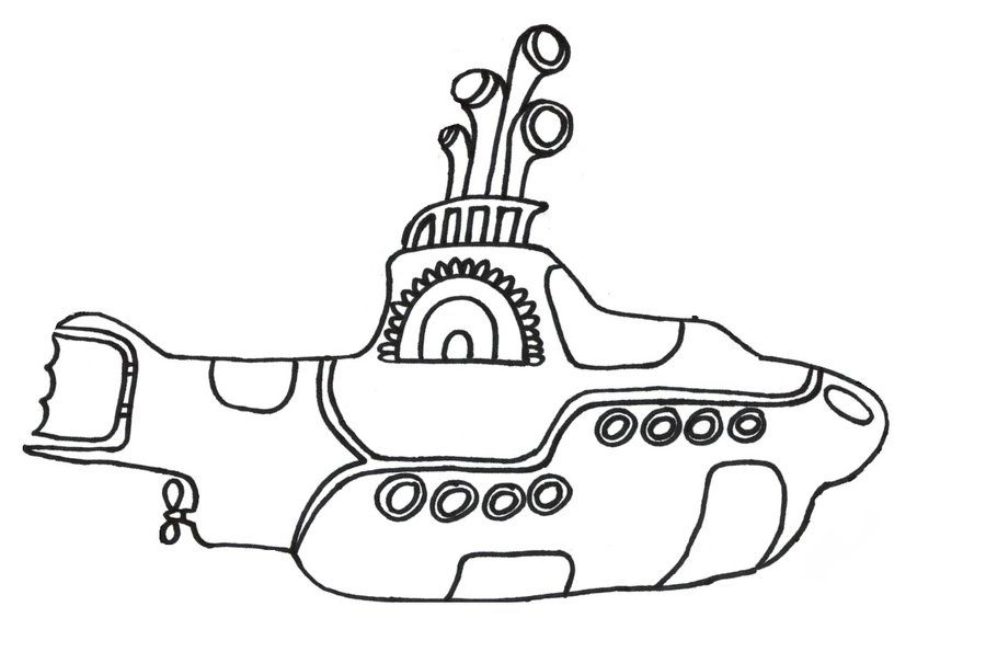 Beatles Yellow Submarine Coloring Book | Things Tessa would like ...
