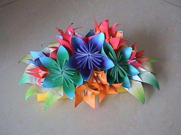 My creation kusudama n lily origami arrangement cool stuff to buy origami mightylinksfo