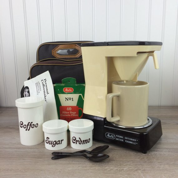 Vintage Melitta Coffee Maker Portable Personal One Cup Coffee