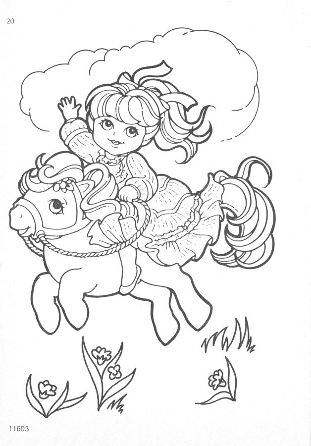 My Little Pony G1 Coloring Pages My Little Pony Coloring Poppy Coloring Page Coloring Pages