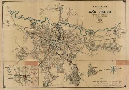 PLANTA GERAL DA CAPITAL DE SÃO PAULO,1897