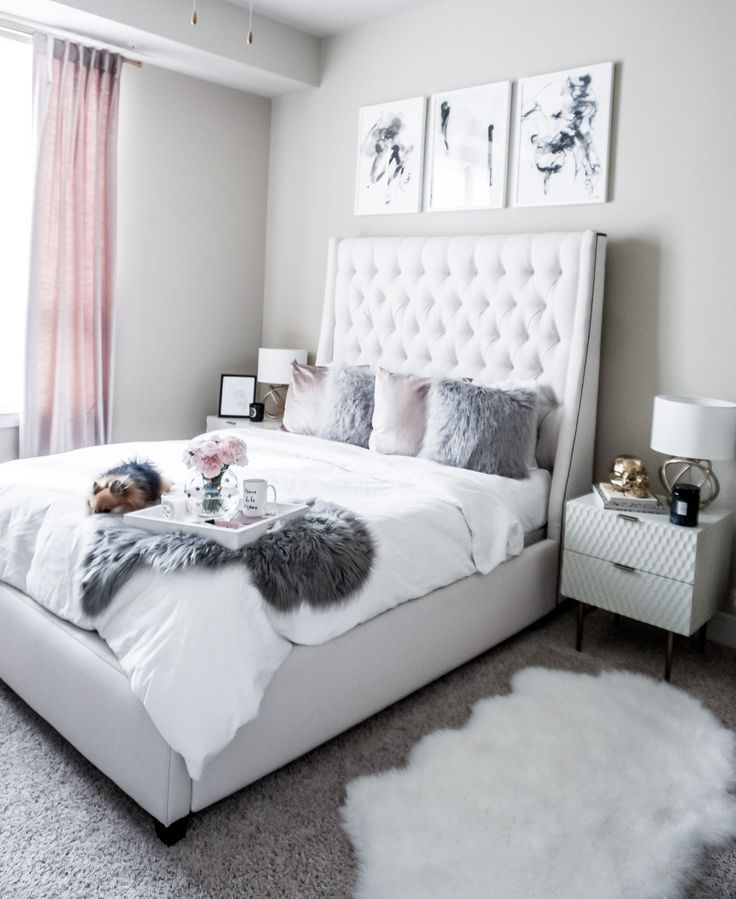 Teen S Bedroom With Feature Grey Wall And Monochrome Bed Linen: Updating My Bedroom With Minted