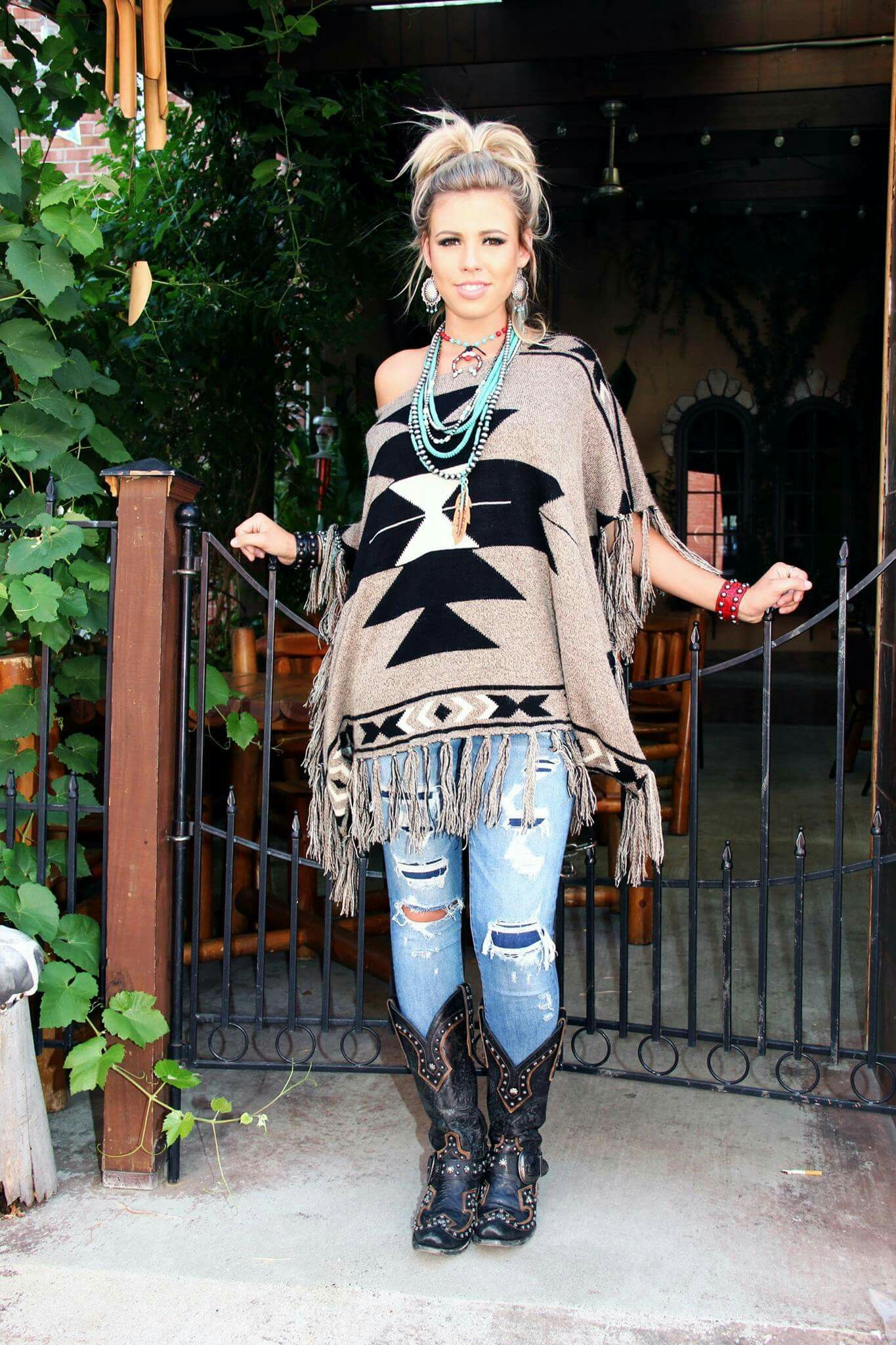 R Cinco Ranch Fall Fashion Tribal Aztec Cowgirl Gypsy