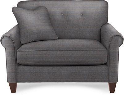 Laurel Chair U0026 A Half By La Z Boy_Fabric Teal Blue