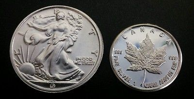 1 10 Oz 999 Fine Silver Walking Liberty Round 1 Gram Canadian Maple Leaf Coin Silver Bullion Coins Silver Coins Silver Bullion