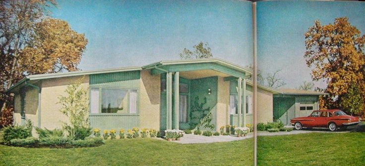 pictures of 50's style ranch houses - Google Search | 50's ... on vintage house design, 1950 home design, elegant house design, 50s home design, 50 s ranch design, ranch house porch design, unique house design,