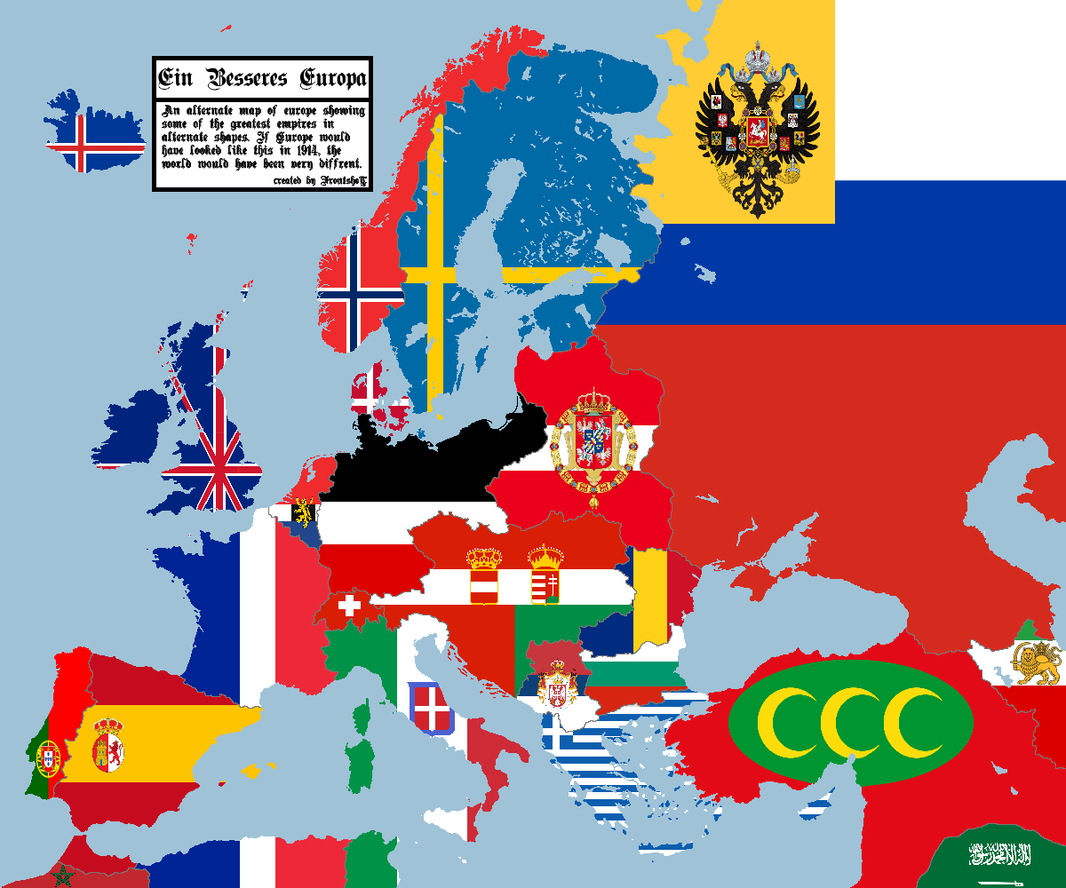 alternate map of europe An alternate map of Europe in 1914 | Europe map, Imaginary maps