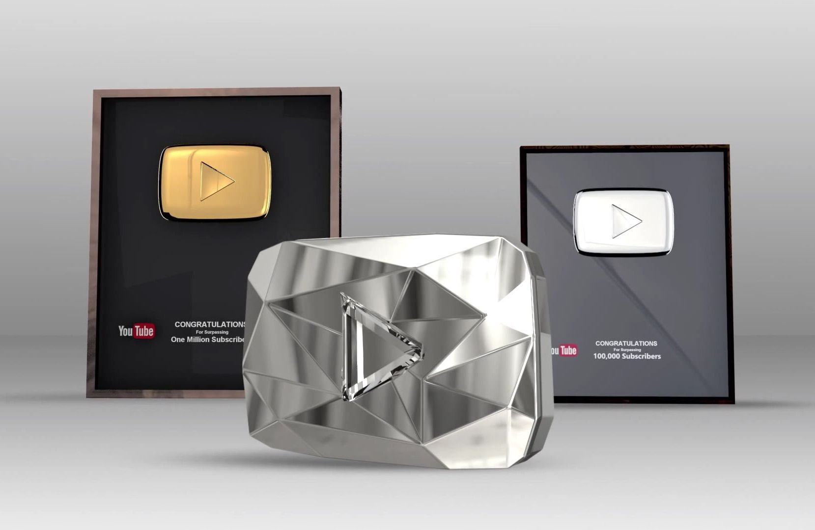 Silver, Gold, and Diamond play YouTube Buttons  | NAILed it