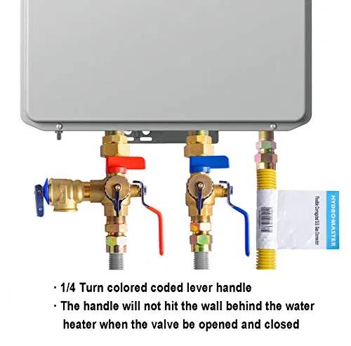 Hydro Master 3 4 Inch Ips Isolator Tankless Water Heater Service Valve Kit In 2020 Water Heater Water Heater Service Tankless Water Heater